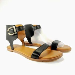 COLE HAAN Women's Anica Cuff Black Sandals size 9
